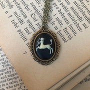 Zodiac Cameo Necklace- Choose a Sign