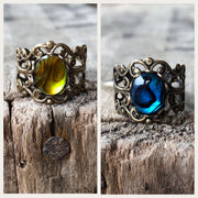 Paua Shell Filigree Ring