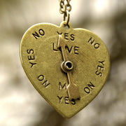 50s Spinner Heart- Brass
