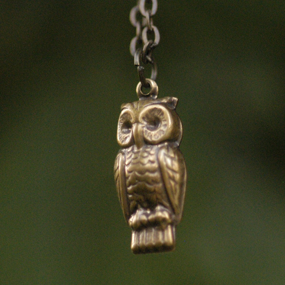 Little Retro Owl Necklace