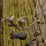 Brass Thistle Pendant Necklace