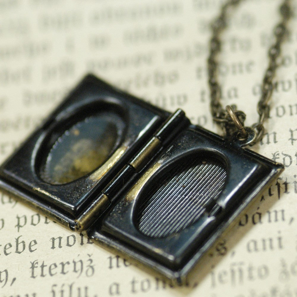 Book locket antiqued brass ragtrader vintage book locket antiqued brass aloadofball Gallery