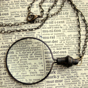 Monocle Necklace - Brass