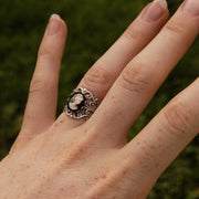Black and White Lady Cameo Ring
