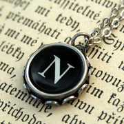 Vintage Typewriter Key Necklace- N