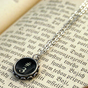 Vintage Typewriter Key Necklace- Pick a letter, number or symbol