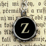 Vintage Typewriter Key Necklace- Z