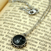 Vintage Typewriter Key Necklace- 8