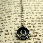 Vintage Typewriter Key Necklace Style #2- Pick any letter, number or symbol