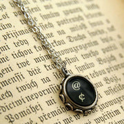 Vintage Typewriter Key Necklace- Pick any letter, number or symbol