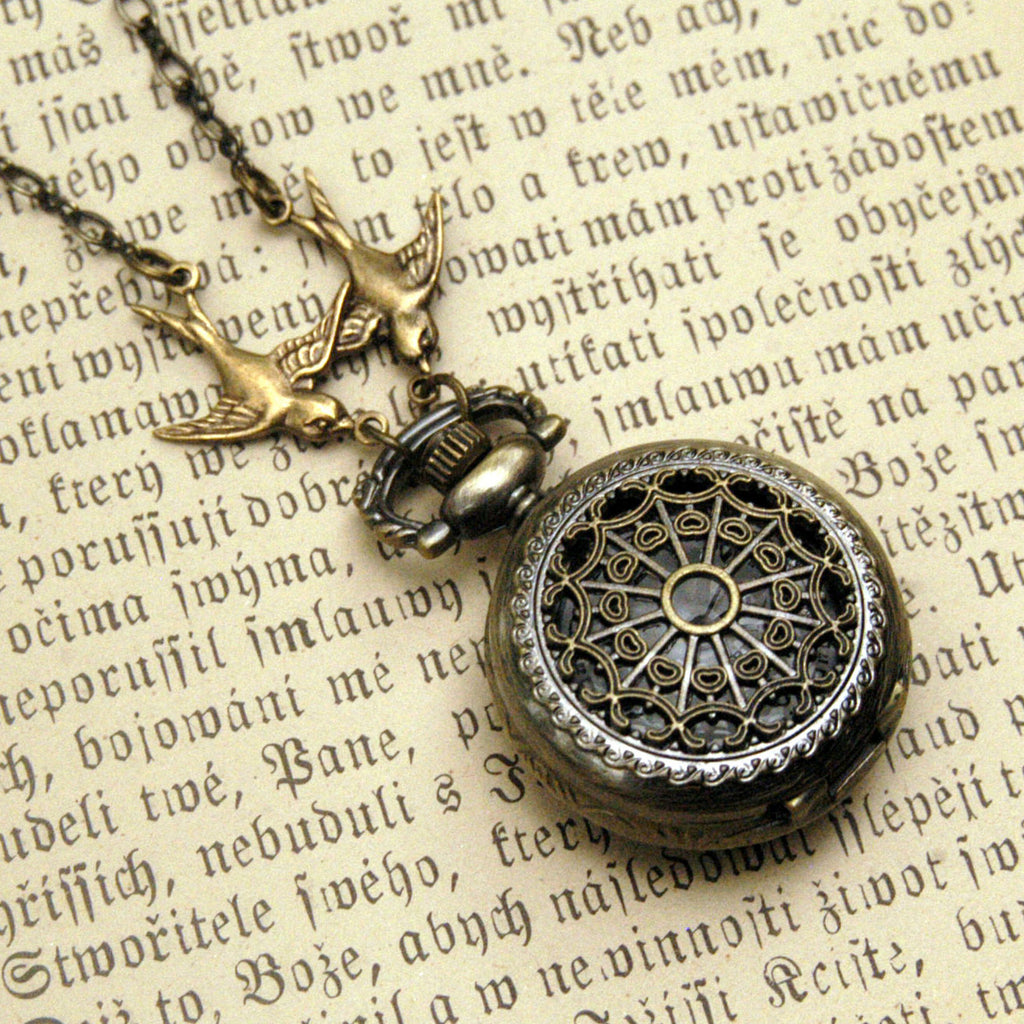 Small Pocket Watch Necklace