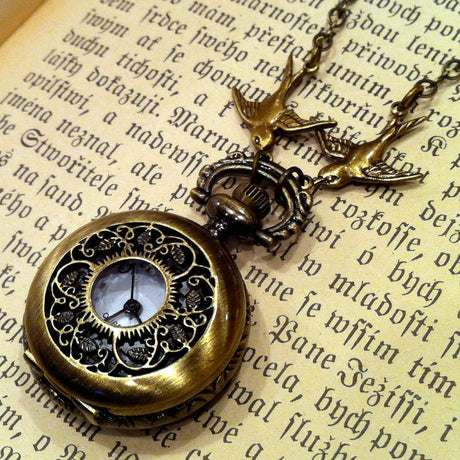 Brass Pocket Watch Necklace number 4