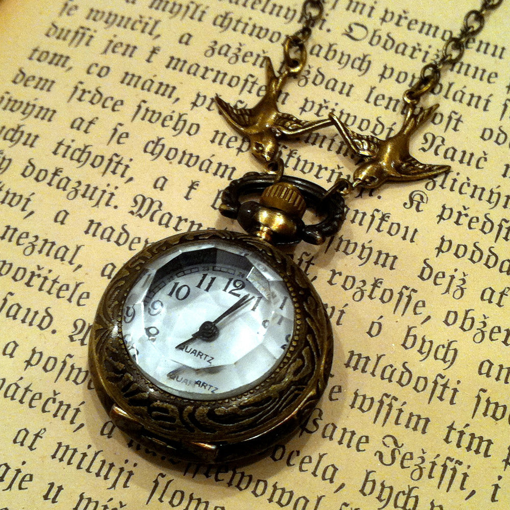 Brass Pocket Watch Necklace number 5