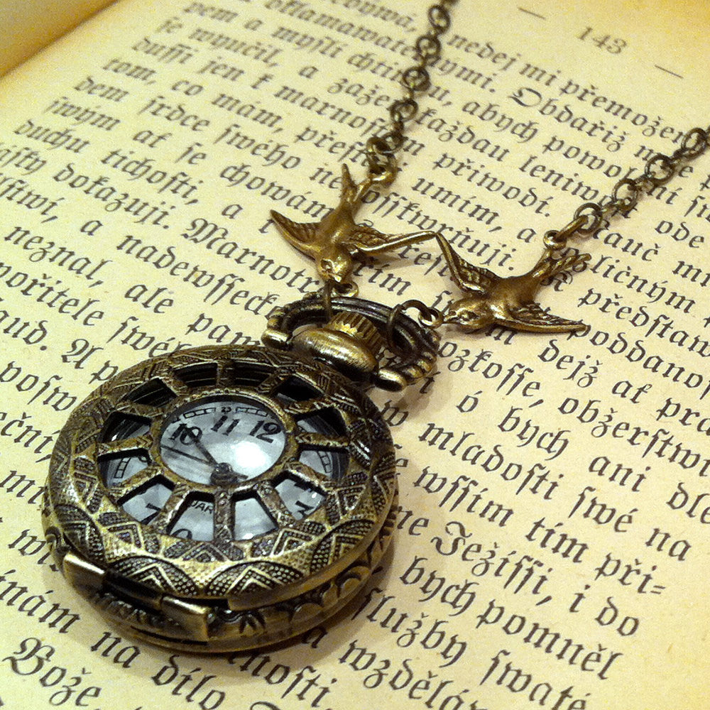 Brass Pocket Watch Necklace number 2