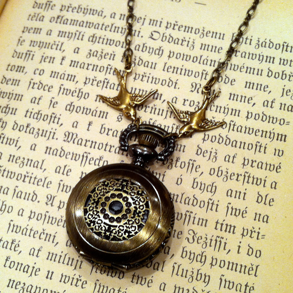 Brass Pocket Watch Necklace number 8