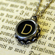 Vintage Typewriter Key Necklace- Pick any letter, number or symbol.