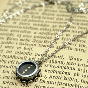 Vintage Typewriter Key Necklace- Pick a Letter Number or Symbol