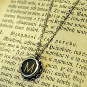 Vintage Typewriter Key Necklace- M