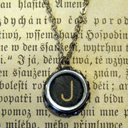 Vintage Typewriter Key Necklace- J