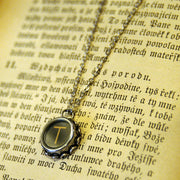 Vintage Typewriter Key Necklace- T