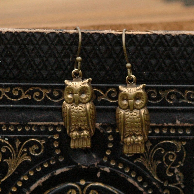 Retro Owl Earrings or Necklace