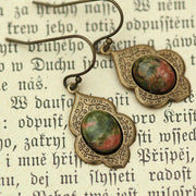 Bronze Unakite Earrings