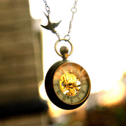 Brass Mechanical Pocket Watch Necklace 7