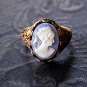 Blue Cameo Ring