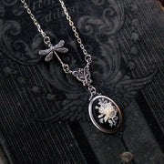 Flower Cameo Necklace- Choose a color