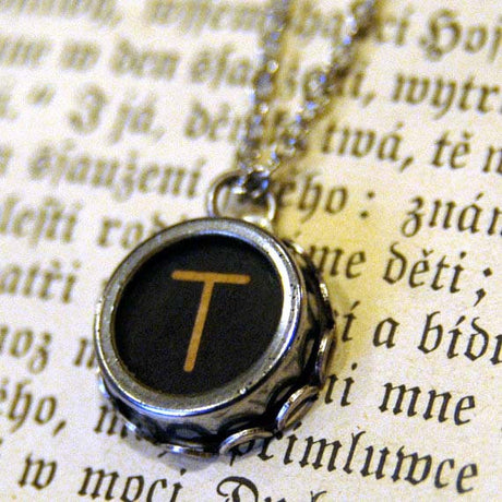 Typewriter Key Necklace- Pick any Letter Number or Symbol