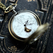 Brass Mechanical Pocket Watch 14 -on Fob or Necklace Chain