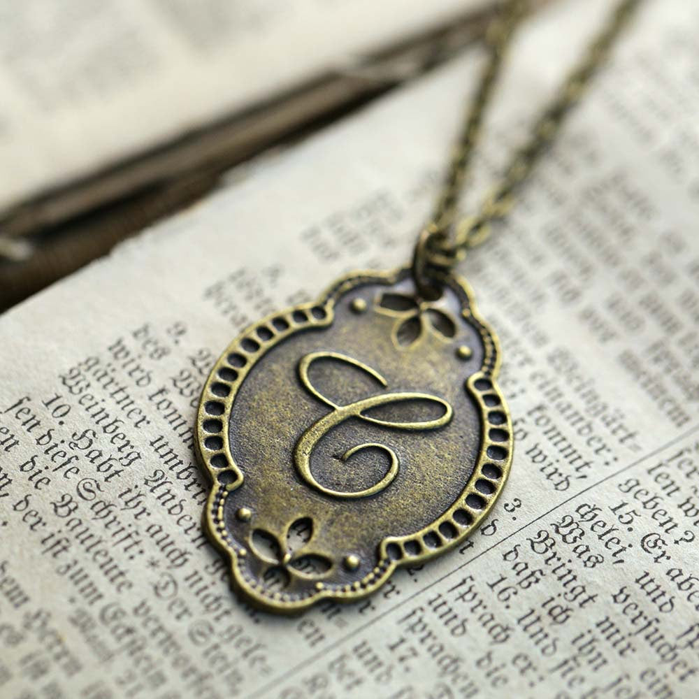 Letter C Pendant Necklace