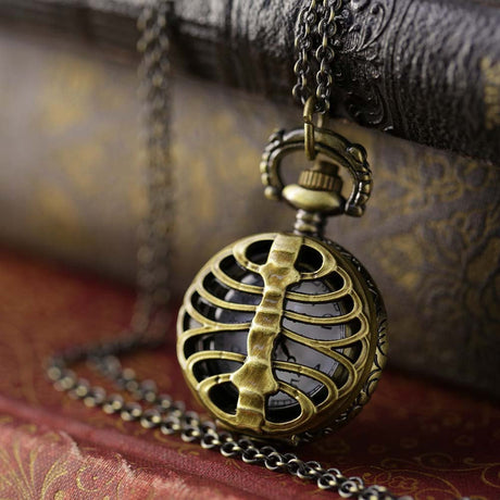 Brass Pocket Watch Necklace number 12