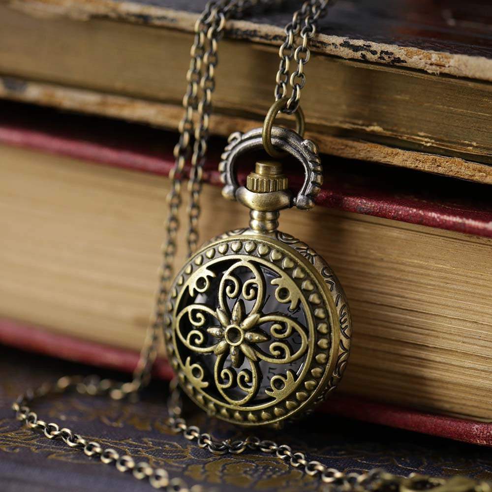 Brass Pocket Watch Necklace number 13