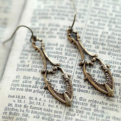 Brass Drop Earrings 4