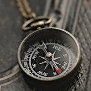 Brass Compass Necklace