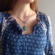 Aventurine and Silver Necklace