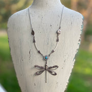 Filigree Dragonfly Pendant Necklace