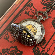 Rib Cage Mechanical Pocket Watch - Pocket Chain or Necklace