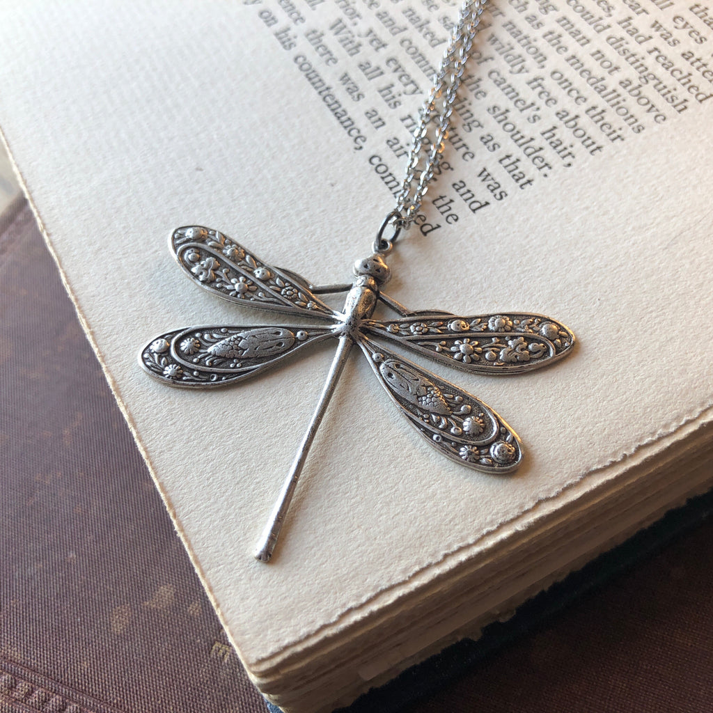 Victorian Dragonfly Necklace