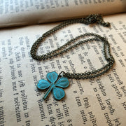 Shamrock Necklace- Pick a Size and Color