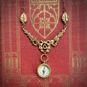 Working Compass Necklace in Bronze and Filigree