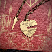 Key to my Heart Necklace Set in Antique Bronze