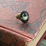 Vintage Zodiac Cameo Ring - Cancer