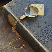 Magnifying Glass Necklace in Gold