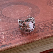 Pink Lady Cameo Ring