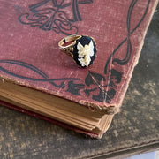 Angel Cameo Ring in Antiqued Brass or Silver