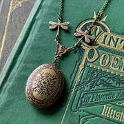 Oval Locket with Dragonfly Chain