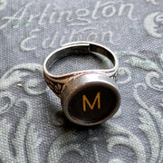 Vintage Typewriter Key Ring - Pick a letter or symbol