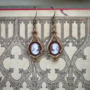 Lady Cameo Earrings- Pick a Color